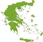 Greece map — Stock Vector