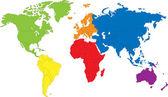 Mapa świata. — Wektor stockowy