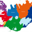 Iceland map — Vettoriali Stock