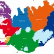 Iceland map — Vecteur #1171786
