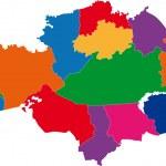 Постер, плакат: Vector Kazakhstan map