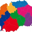 Постер, плакат: Color Macedonia map