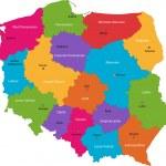 Color Poland map — Stock Vector #1173139