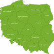 Map of administrative divisions of Poland — Stock Vector #1173156
