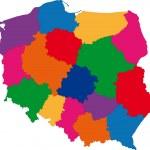 Color Poland map — Stock Vector #1173183