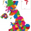 Colorful United Kingdom map — Imagen vectorial