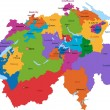 Royalty-Free Stock Vektorgrafik: Colorful Switzerland map