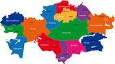 Kazajstán mapa — Vector de stock