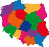 Color Poland map — Stock Vector