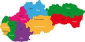 Slovakia map — Stock Vector