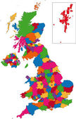 Colorful United Kingdom map — Vecteur