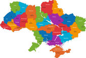 Ukrayna'nın idari birimleri — Stok Vektör