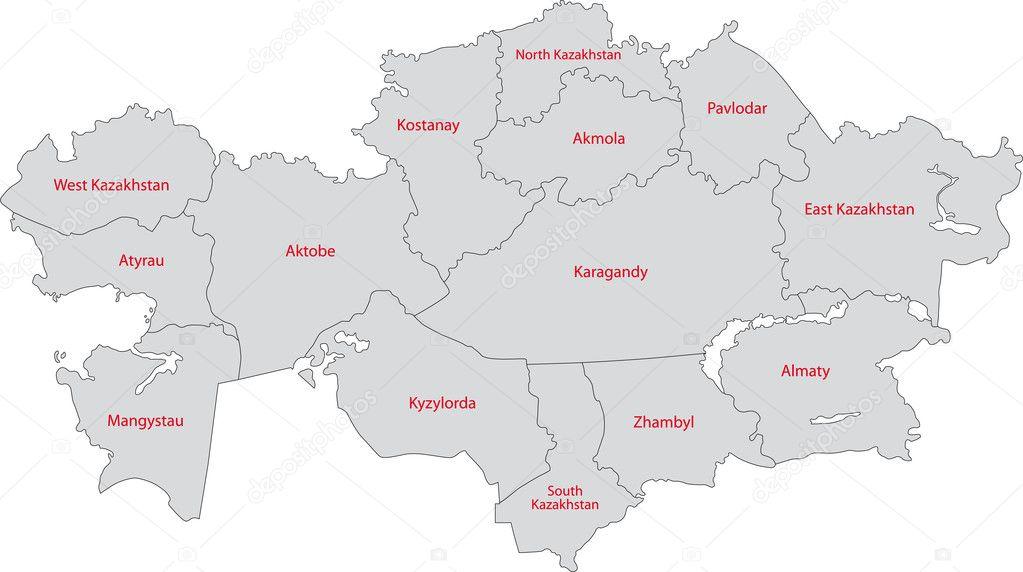 Раскраска карты казахстана