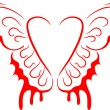 Stock Vector: Heart with wings