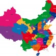 mapa da China — Vetorial Stock