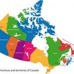 Canada map — Stock Vector