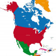 North America — Stockvectorbeeld
