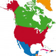 Vector de stock : North Americmap