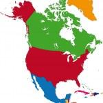 North America map — Stock Vector