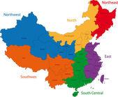 China map — Stock Vector