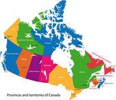 Mapa de canadá — Vector de stock