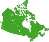 Green Canada map — Vecteur