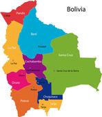 Bolivia map — Stock Vector