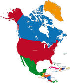 Kuzey amerika — Stok Vektör