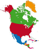 North America map — Wektor stockowy