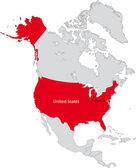 North America — Stock Vector