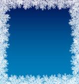 Kar taneleri çerçeve — Stok Vektör