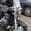 Stock Photo: Black motorcycle