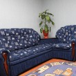 Blue sofa — Stock Photo