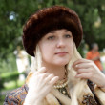 Girl in fur cap — Stock Photo #1051851