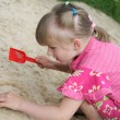 Girl on the sand — Stock Photo #1051870