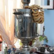 Samovar and bagels — Stock Photo