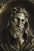 The representation of Christ in torment made of gypsum — Stock Photo
