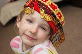 The girl in skullcap — Stock Photo