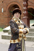 Girl in old slavonic clothes — Stock Photo