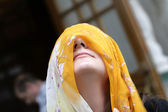 Yellow headscarf — Stock Photo