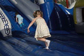 Children on trampoline — Stock Photo