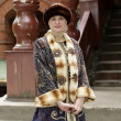 Stockfoto: Tourist in historical clothing