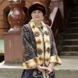 图库照片: Tourist in historical clothing