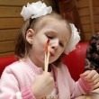 Royalty-Free Stock Photo: Girl with chopsticks