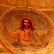 Stock Photo: Red fresco