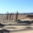 Fence before ocean — Stock Photo