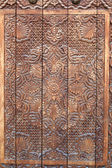 Fragment of wooden door — Stock Photo