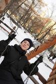 The swinging woman — Stock Photo