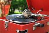 Portable gramophone — Stock Photo