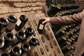 Man chooses wine — Stock Photo